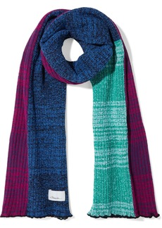 3.1 Phillip Lim Woman Patchwork Marled Ribbed-knit Scarf Multicolor