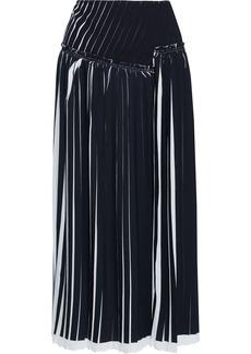 3.1 Phillip Lim Woman Pleated Crepe Midi Skirt Black