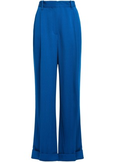 3.1 Phillip Lim Woman Pleated Crepe Wide-leg Pants Cobalt Blue