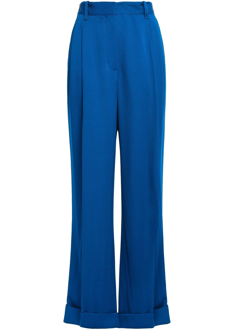 3.1 Phillip Lim Woman Pleated Crepe Wide-leg Pants Cobalt Blue