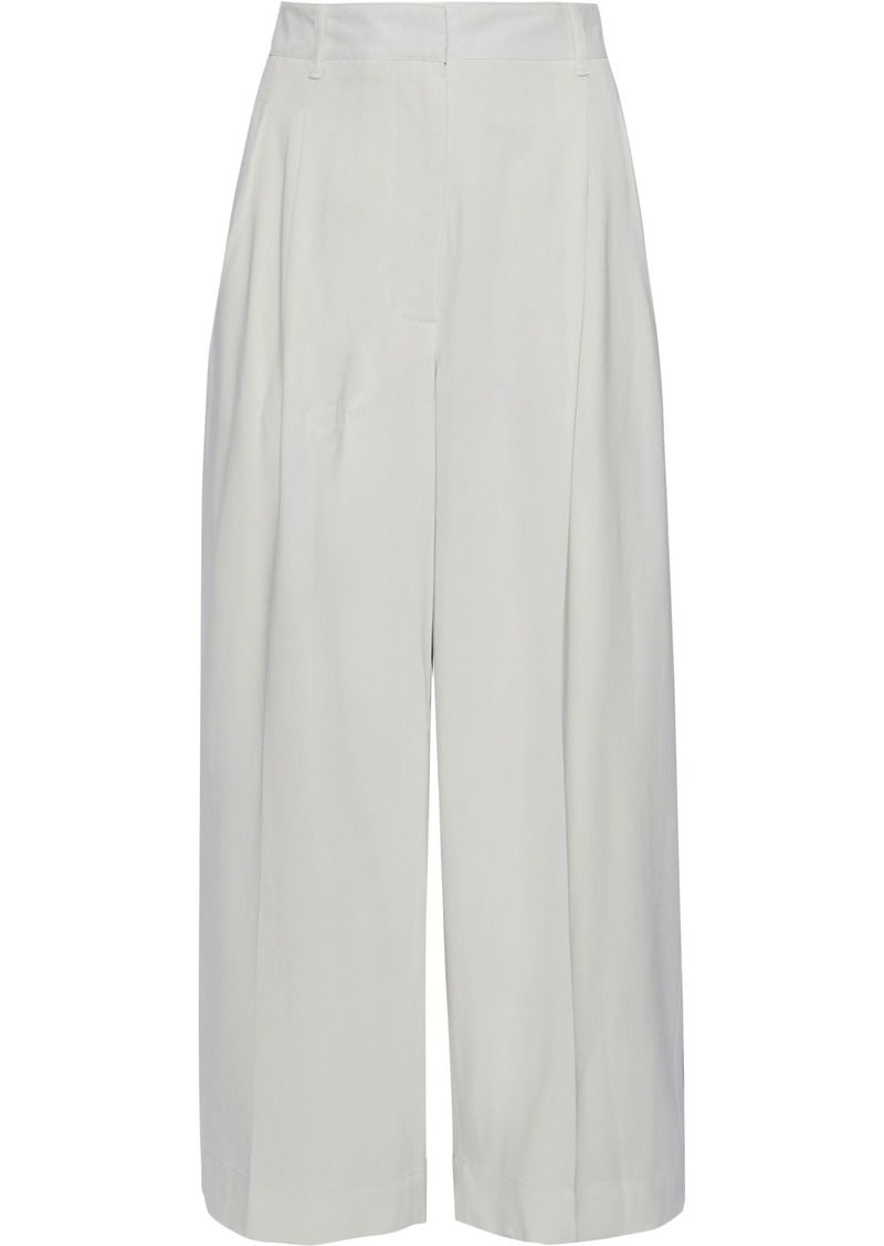 3.1 Phillip Lim Woman Pleated Twill Wide-leg Pants Off-white