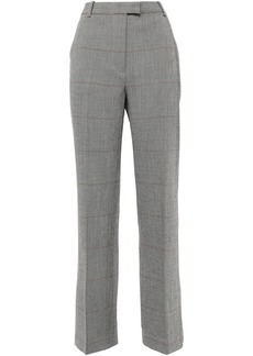 3.1 Phillip Lim Woman Prince Of Wales Checked Wool-blend Straight-leg Pants Black