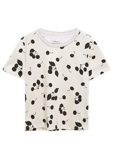 3.1 Phillip Lim Woman Printed Cotton-jersey T-shirt Ivory