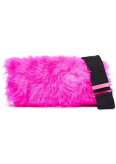 3.1 Phillip Lim Woman Ray Baguette Neon Shearling And Leather Shoulder Bag Bright Pink
