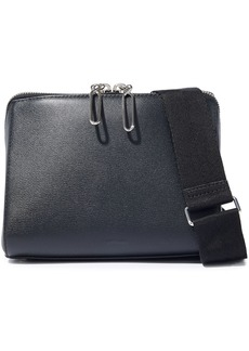 3.1 Phillip Lim Woman Ray Triangle Textured-leather Shoulder Bag Black