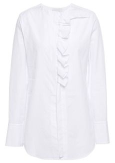 3.1 Phillip Lim Woman Ruffle-trimmed Cotton-poplin Blouse White