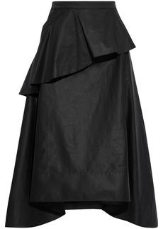 3.1 Phillip Lim Woman Ruffled Cotton-blend Poplin Midi Skirt Black
