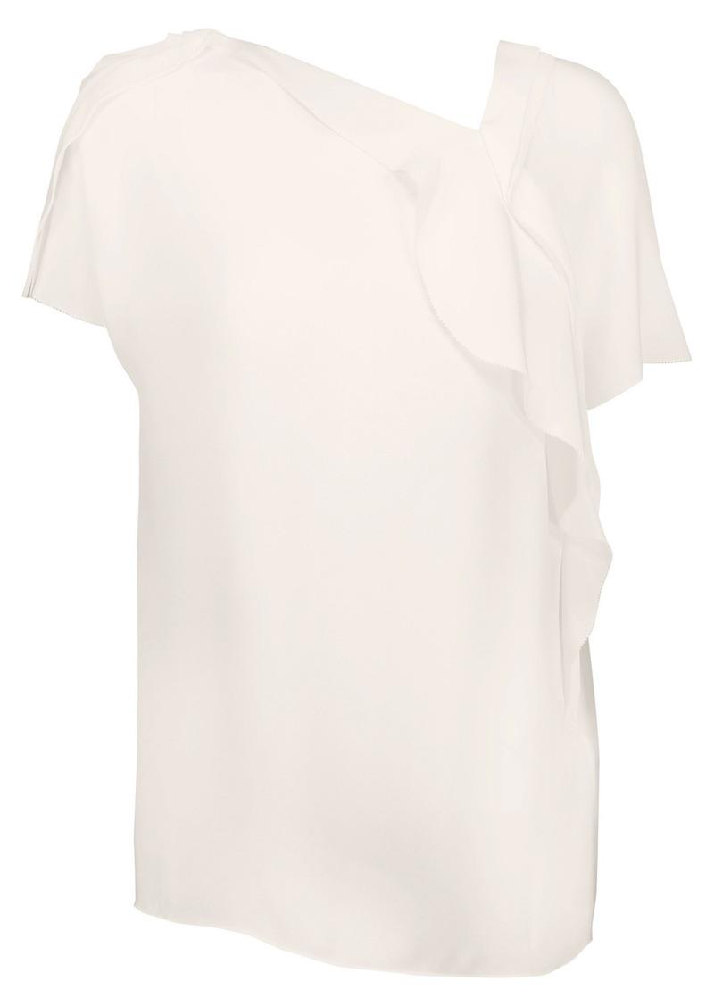 3.1 Phillip Lim Woman Ruffled Silk Crepe De Chine Blouse White