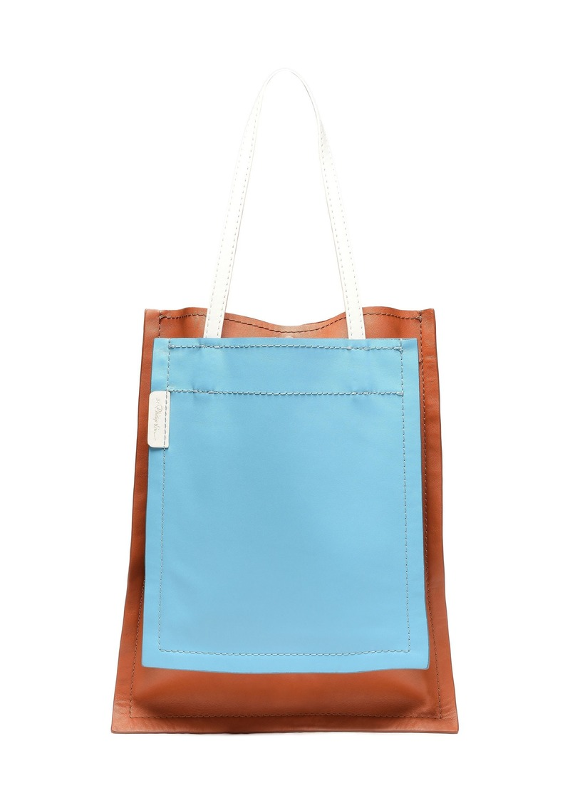 3.1 Phillip Lim Woman Slim Accordion Paneled Color-block Leather Tote Multicolor