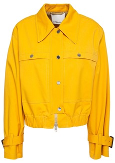 3.1 Phillip Lim Woman Snap-detailed Cotton-blend Jacket Marigold