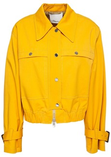 3.1 Phillip Lim Woman Snap-detailed Cotton-blend Jacket Marigold