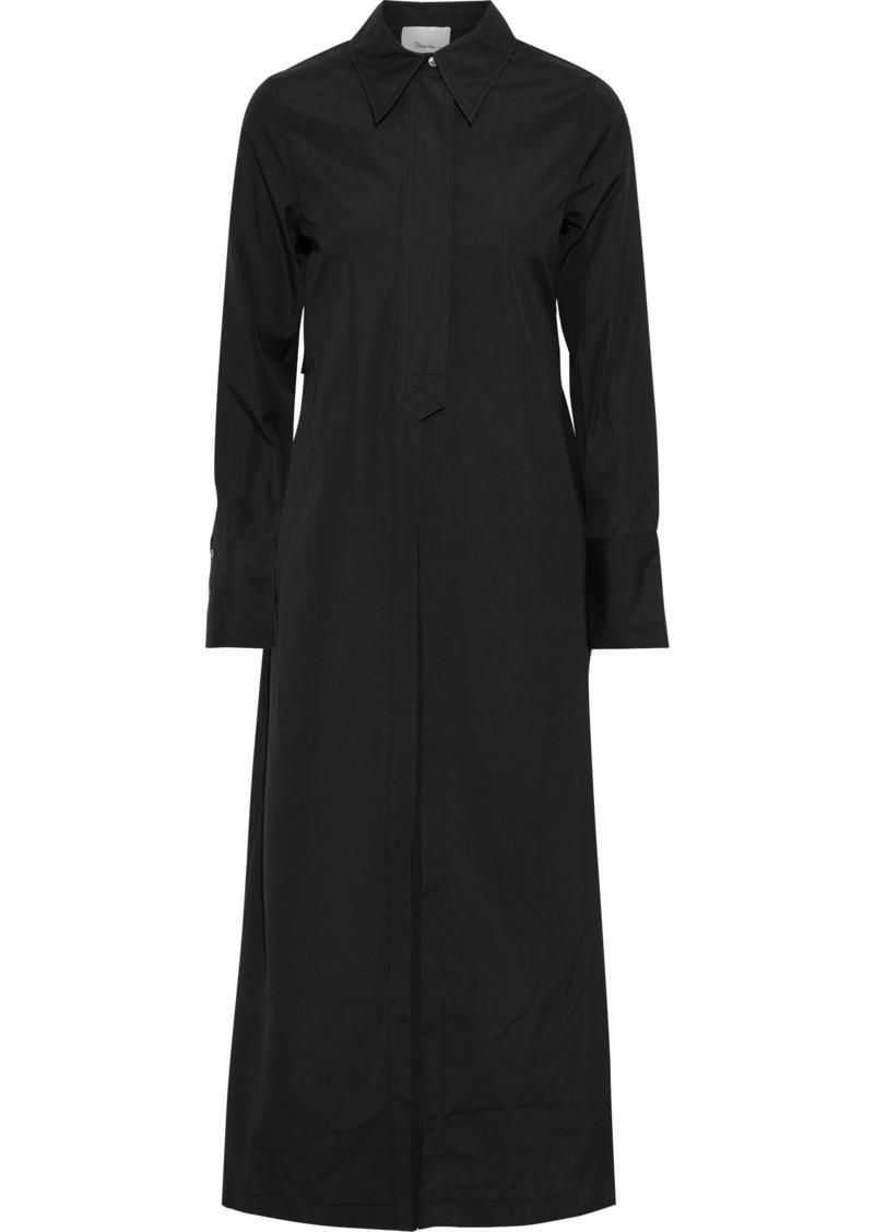 3.1 Phillip Lim Woman Split-back Cotton-poplin Jacket Black