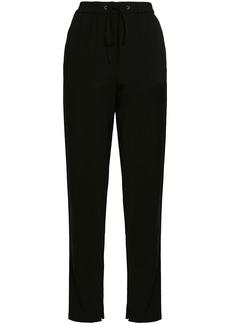 3.1 Phillip Lim Woman Stretch-crepe Straight-leg Pants Black