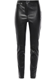 3.1 Phillip Lim Woman Stretch-leather Skinny Pants Black