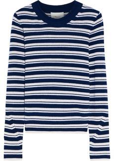 3.1 Phillip Lim Woman Striped Cashmere-blend Sweater Blue