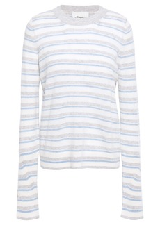 3.1 Phillip Lim Woman Striped Cashmere-blend Sweater Light Blue