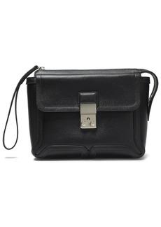 3.1 Phillip Lim Woman Pashli Textured-leather Clutch Black