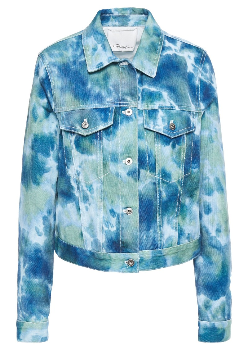 3.1 Phillip Lim Woman Tie-dyed Denim Jacket Blue