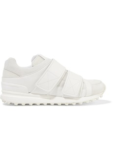 3.1 Phillip Lim Woman Trance Suede-trimmed Leather And Mesh Sneakers White
