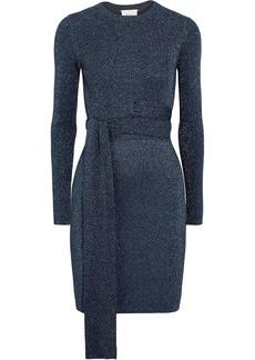 3.1 Phillip Lim Woman Twisted Metallic Ribbed-knit Dress Storm Blue