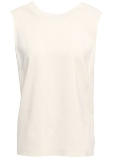 3.1 Phillip Lim Woman Twisted Stretch-crepe Top Ecru