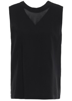 3.1 Phillip Lim Woman Twisted Stretch-crepe Top Black