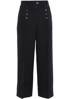 3.1 Phillip Lim Woman Cropped Wool-twill Wide-leg Pants Black