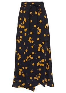 3.1 Phillip Lim Woman Wrap-effect Printed Crepe Maxi Skirt Black