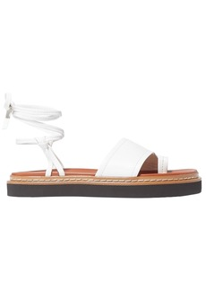 3.1 Phillip Lim Woman Yasmine Lace-up Leather Sandals White