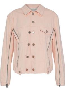 3.1 Phillip Lim Woman Zip-detailed Denim Jacket Pastel Pink
