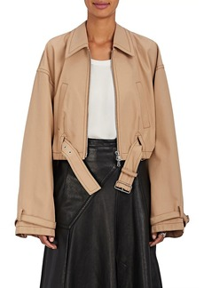 3.1 Phillip Lim Women's Belted Tech-Twill Utility Bomber Jacket