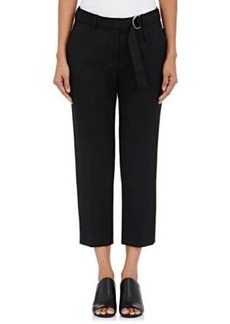 3.1 Phillip Lim Women's Belted Wool Twill Slim Crop Pants