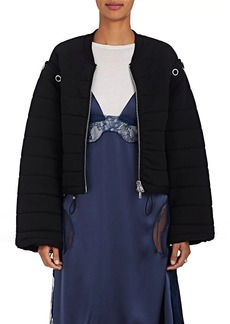 3.1 Phillip Lim Women's Convertible Cotton Terry Bomber Jacket