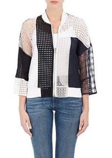 3.1 Phillip Lim Women's Cotton Patchwork Bomber Jacket Size 4
