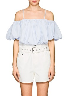 3.1 Phillip Lim Women's Cotton Voluminous Crop Top