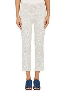 3.1 Phillip Lim Women's Dobby-Striped Crop Trousers