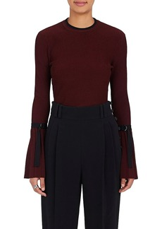 3.1 Phillip Lim Women's Flared-Sleeve Rib-Knit Sweater