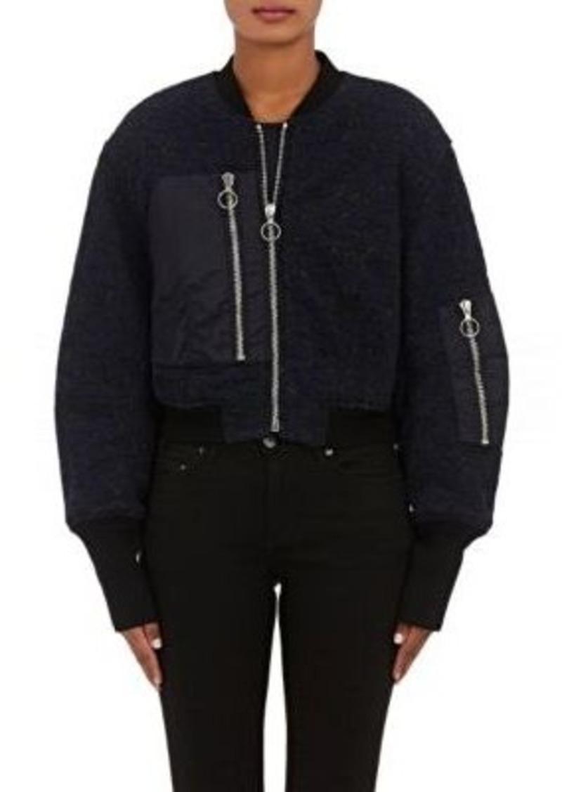3.1 Phillip Lim Women's Floral Lace Jacquard Crop Flight Jacket