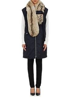 3.1 Phillip Lim Women's Fur-Stole Nylon Flight Vest