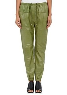3.1 Phillip Lim Women's Leather Jogger Pants