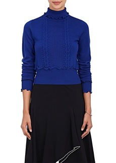 3.1 Phillip Lim Women's Mixed-Stitch Wool-Blend Turtleneck Sweater