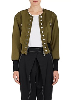 3.1 Phillip Lim Women's Pearl-Embellished Tech-Satin Bomber Jacket