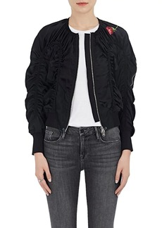 3.1 Phillip Lim Women's Ruched Silk Flight Jacket