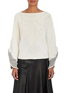 3.1 Phillip Lim Women's Tie-Back Mixed-Stitch Sweater