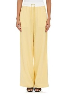 3.1 Phillip Lim Women's Wool Drawstring-Waist Wide-Leg Pants