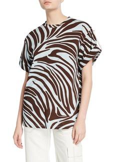 3.1 Phillip Lim Zebra-Print T-Shirt