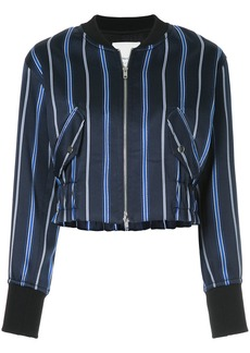 3.1 Phillip Lim zipped striped bomber jacket - Blue