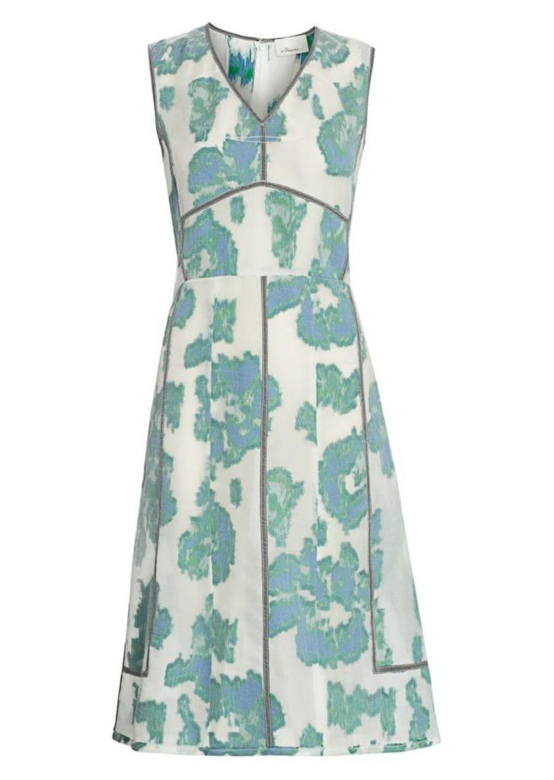 3.1 Phillip Lim Abstract Daisy Fil Coupé Dress