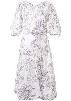 3.1 Phillip Lim Abstract Daisy balloon-sleeve dress