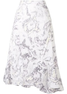 3.1 Phillip Lim abstract daisy print skirt